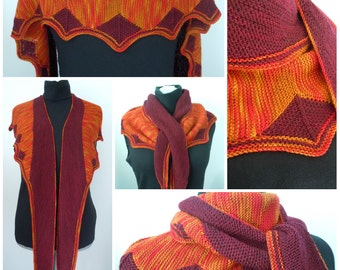 Farfalla, Shawl knitting pattern PDF