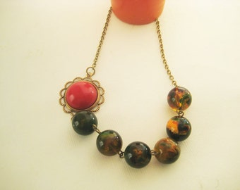 Fall Style Beaded Necklace