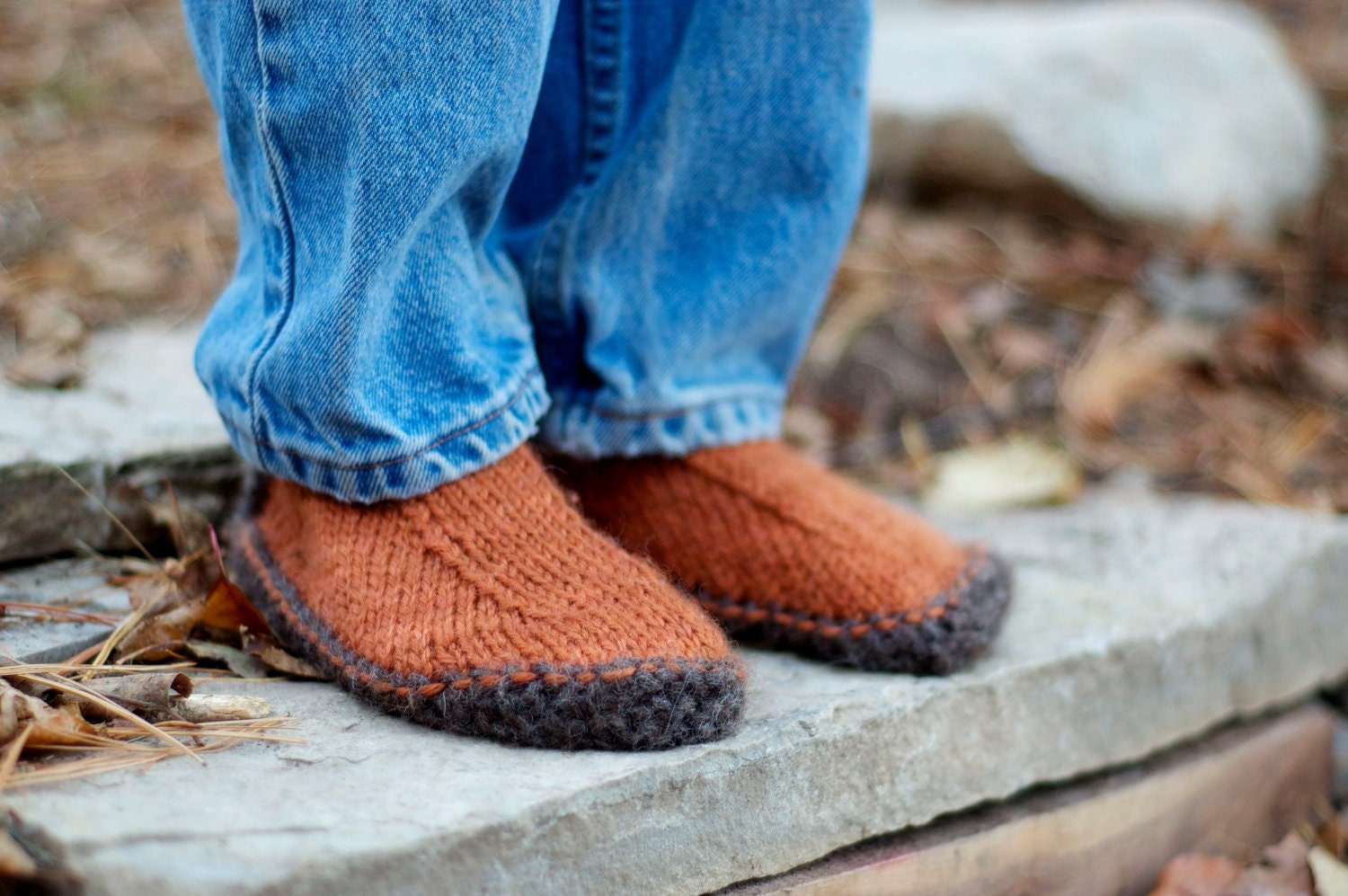 Simple Slippers Knitting Pattern Pdf Pattern By Thesittingtree