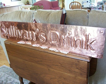 Personalized copper house sign