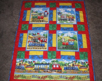 Popular Items For Train Quilt On Etsy