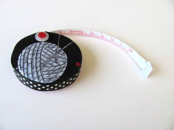 Knitting Lovers Black Fabric Tape Measure