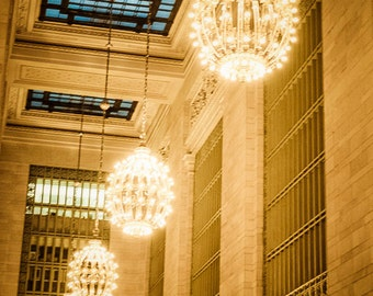 Grand Central Station Photo, new york photograph chandeliers nyc photography city terminal station architecture nyc51