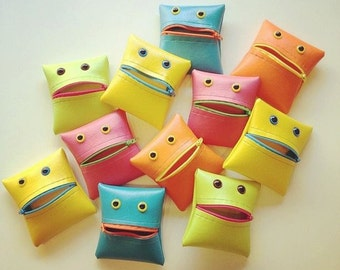 Monster Coin Purse in Sherbet Brights