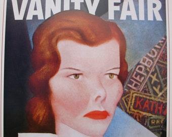 Vintage Vanity Fair Cover Poster - April 1934 - Katherine Hepburn