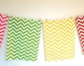 Chevron Tea Towel - you choose the colour