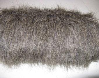 Gray Faux Fur Muff