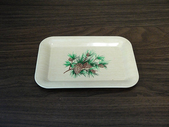 Little Vintage Metal Pine Cone Tray