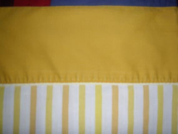 Standard Yellow Striped Pillowcase
