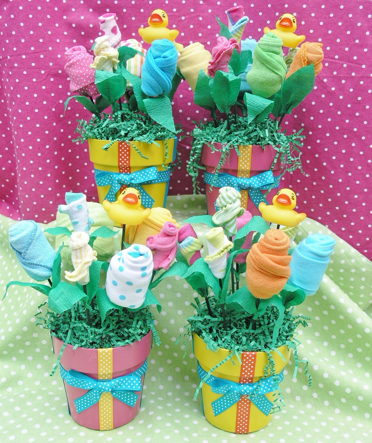 New Baby Floral Gift Ideas : Unique baby shower centerpieces bouquet by