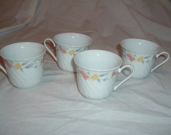 4 beautiful lynns vintage coffee/ tea cups
