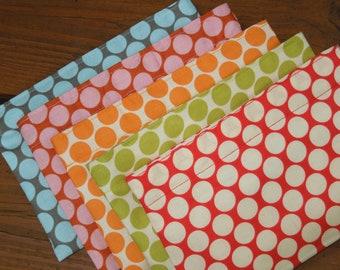 Reusable snack bag - Reuse snack bag - Fabric snack bag - Ecofriendly food bag - Five polka dots colors to choose from