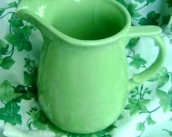 Sale VIntage Apple green ceramic pitcher in VGVC