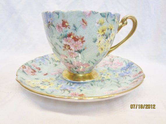 Shelley Cup and Saucer Melody chintz pattern on sale