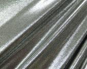 Silver on Black Mystique Spandex Lycra Fabric