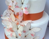BUY 40 Get 9 plus 3 XLARGE FREE Blushing Glamour in Pink - edible Butterfly - Shower Decorations - edible butterflies by Uniqdots on Etsy