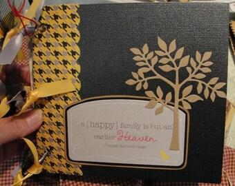 OOAK Handmade Family/Love/Home Themed Mini Chipboard Scrapbook Album