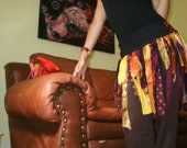 ONE day SALE -  F I E L D of Dreams - Festival Tattered Pixie Bustle Corset Belt Tutu Skirt Bohemian Magic Tribal Fairy Eco Upcycle