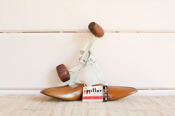 Vintage Mid Century Shoe Trees or Shoe Lasts by Miller