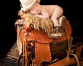 Cowboy Boots and Cowboy Hat, Cowboy baby shower, Brown Cowboy set