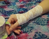 Alice in Wonderland/ steampunk/ gothic lolita stretch lace wristlet/ cuff