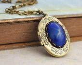 northern star necklace, blue star, vintage jeweled, YOU Are MY GUIDANCE, antique brass necklace,