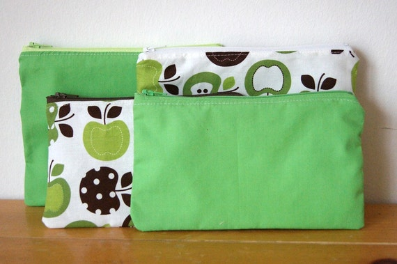Snack and Sandwich Bag Combo 4-Pack Green Apples