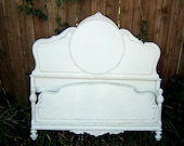 Shabby Chic Linen White Antique Full/ Double Size Bed Reserved Nicole