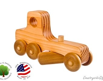 Wooden Toy Grader - Natural Organic Wooden Toy - wooden truck