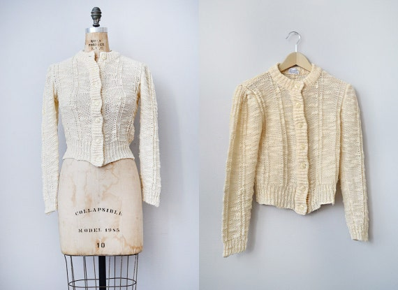 vintage 1980s chunky cable knit sweater