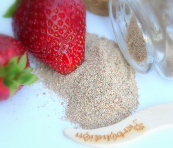 Organic Strawberry Facial Scrub Sample Natural and eco-friendly vegan cleanser great for acne Facial Breakfast Series