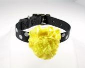 Black & White Polka Dot Collection (Yellow) Pet Collar