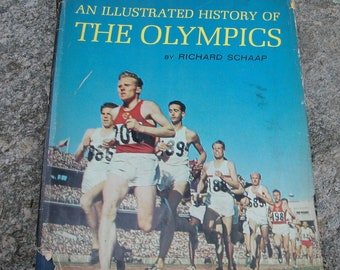 An Illustrated History Of The Olympics By Richard Schaap Vintage 1963 Book