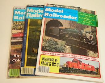Vintage Model Railroader Magazines