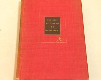 The Best Stories Of De Maupassant Vintage Book