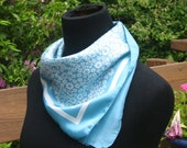 Seaglass Milleflores Scarf from Italy, 19 inch square