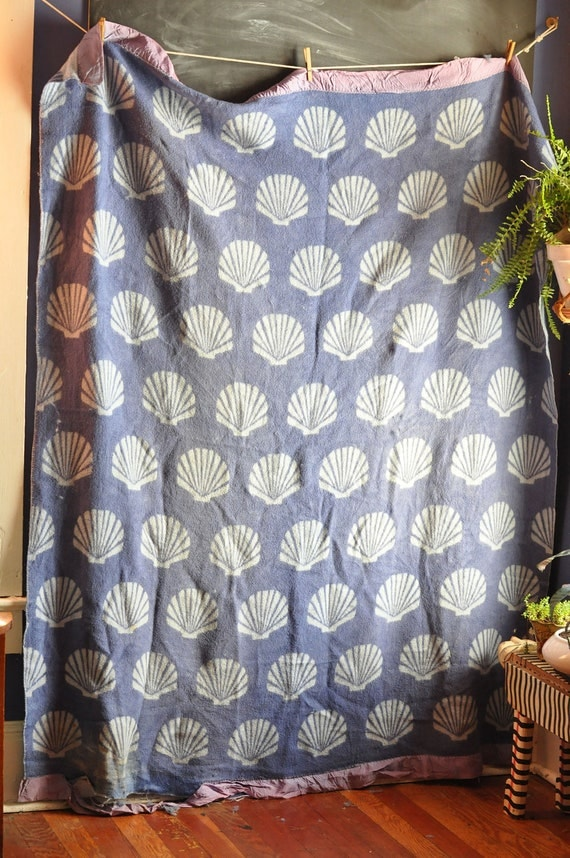 Vintage Wool Camp Blanket Shells Cutter