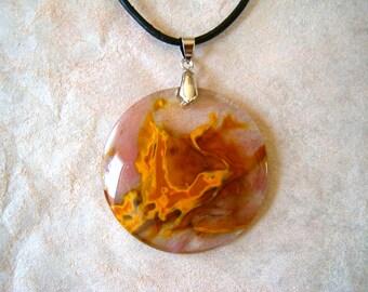 Cherry Volcano Quartz Necklace