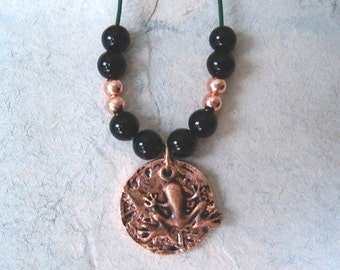 Copper Frog Moon Necklace