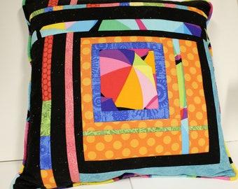 Modern Patchwork Throw Pillow