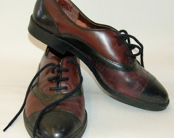 Vintage Lace-up SHOES, Sportivo, 1980s