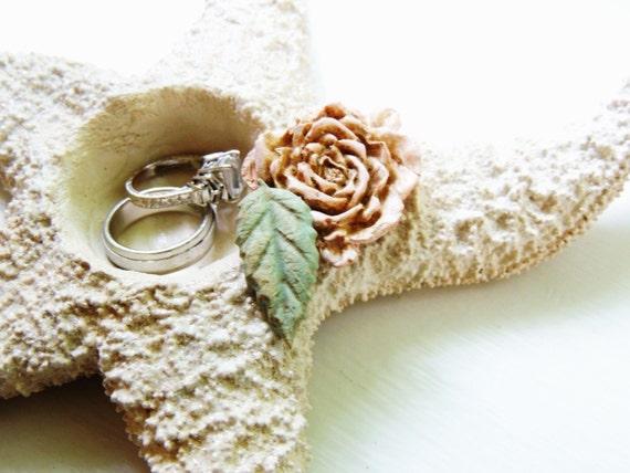 Starfish Ring Bearer Ring Pillow Beach Wedding Ring Holder