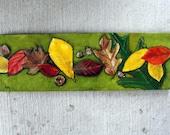 Autumn Leaves, Autumn Painting, Fall Leaves, Acorns, Original Oil Painting, Still Life, Helen Eaton