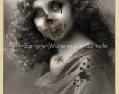 Victorian Zombie Cabinet Card-4x6 Greeting Card-Couture Noir/Halloween/Cabinet of Curiosities
