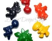 Dinosaur crayons set of 6