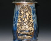 MADE TO ORDER Custom Family Crest Pewter Lidded Stein Crystalline Glazed Personalized Gift
