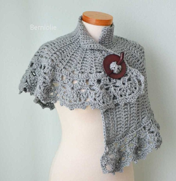 INSTANT DOWNLOAD, HERA, Crochet capelet pattern pdf