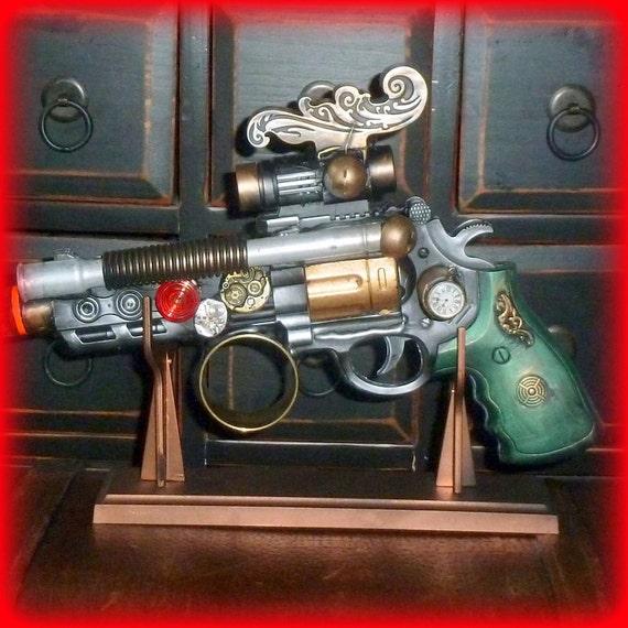 Steampunk cyber goth flintlock gun display stand Victorian pirate VAMPIRE ZOMBIE