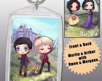 BBC Merlin Keychain Double-Sided