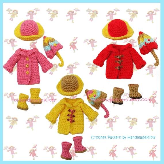 Playing under the Raindrops Amigurumi PDF Crochet Pattern ...